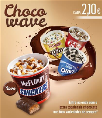 McFlurry Snickers e Choco Wave